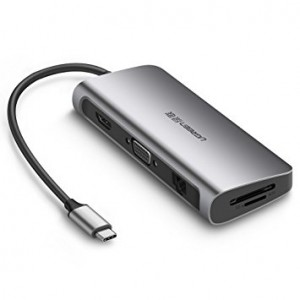 Adaptador USB-C  / HDMI-VGA-ETHERNET-SD-USB-USB C / MacBook - Notebook